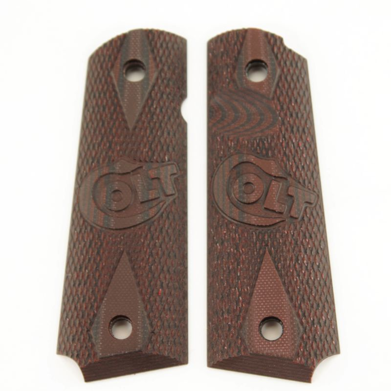 1911 G10 Red Black Non Ambi w Colt Logo