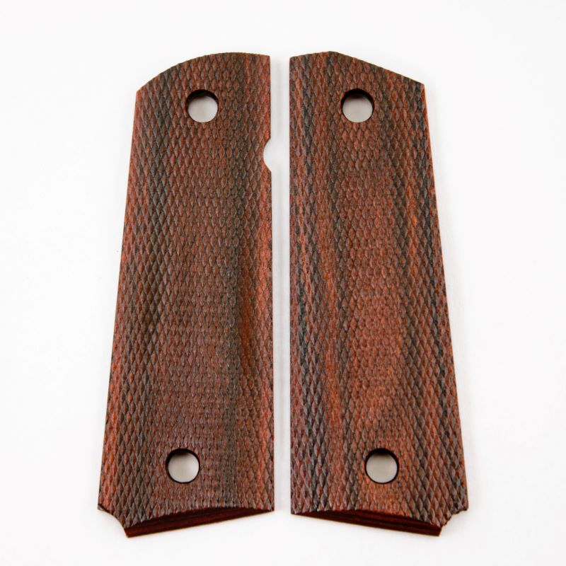 1911 Grip Slim Rosewood Checkered