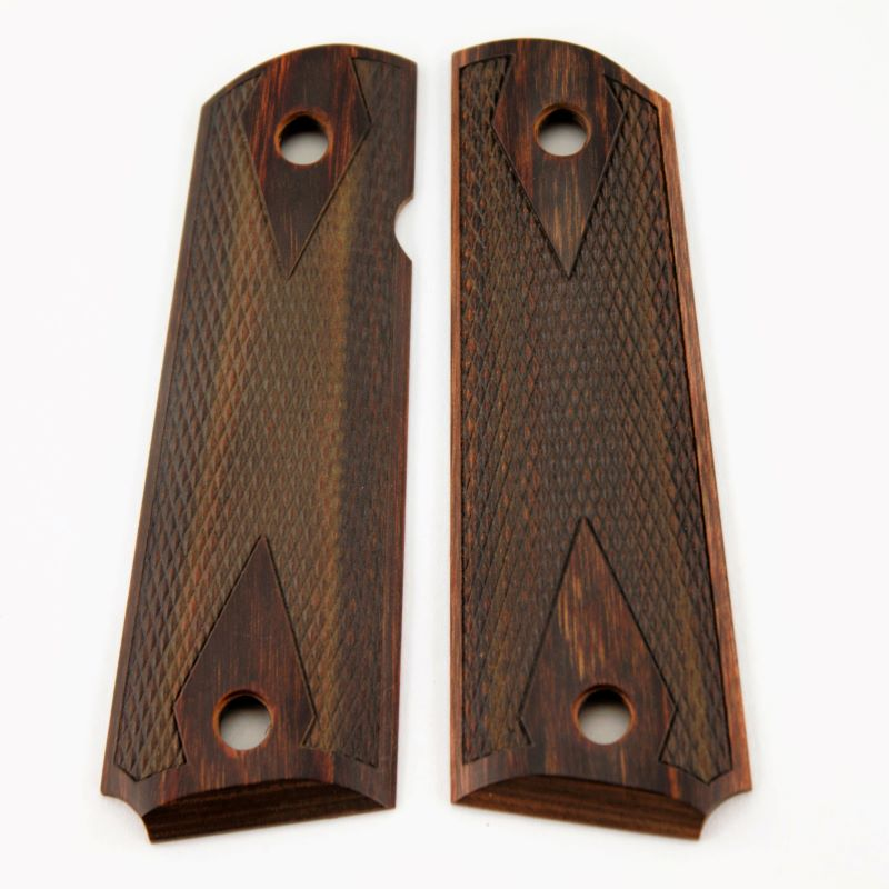 1911 Grip Walnut Laminate Double Diamond Checkered