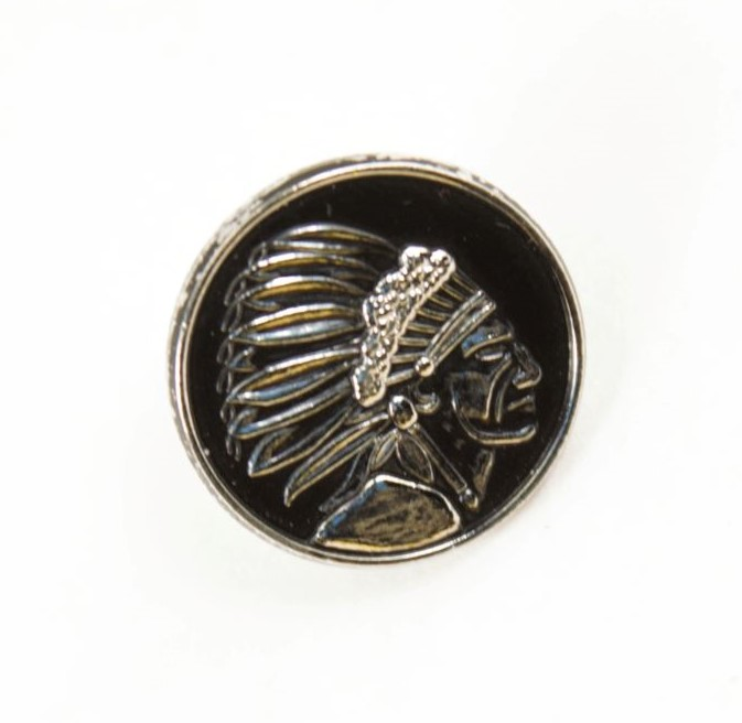 Savage Pin Indian Head Logo