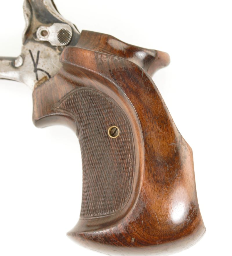 Smith and Wesson K Frame Square Butt Full Target Walnut Grips Old
