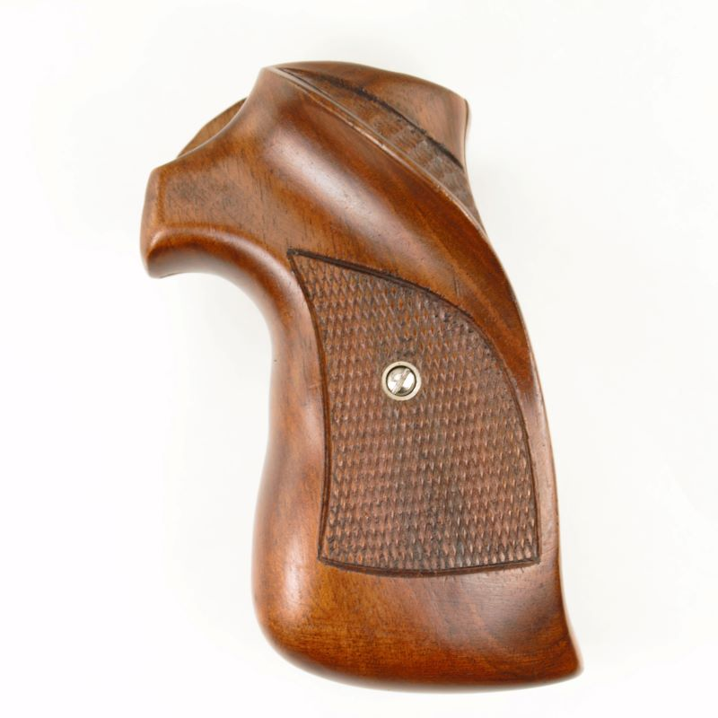 Smith and Wesson K Frame Square Butt Full Walnut Grips Vintage