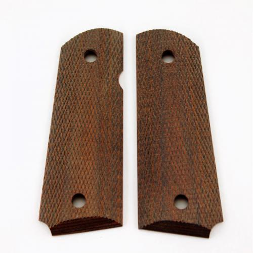 1911 Compact Grip Rosewood Laminiate Checkered