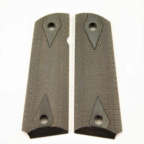 1911 Grip Charcoal Laminate Double Diamond Checkered