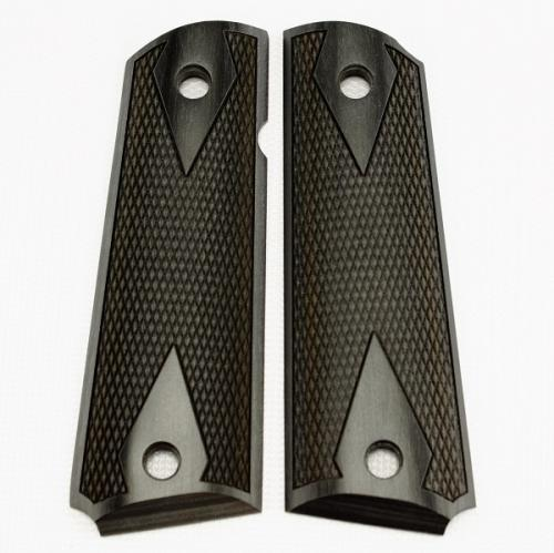 1911 Grip Black Laminate Double Diamond