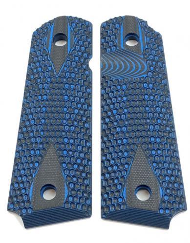 1911 G10 Grip Honeycomb Blue Black
