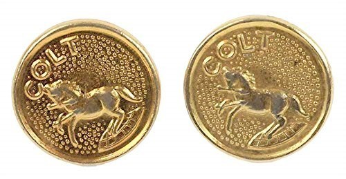 Colt Factory Original Gold Rampant Stallion Medallion Set