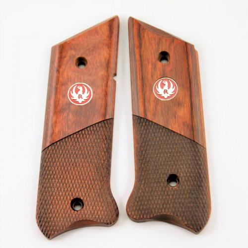 Ruger MKIII Cocobola Laminate Half Checkered Medallion