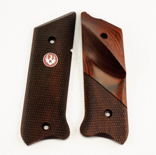 Ruger MKIII Rosewood Laminate Thumbrest Grip with Medallion